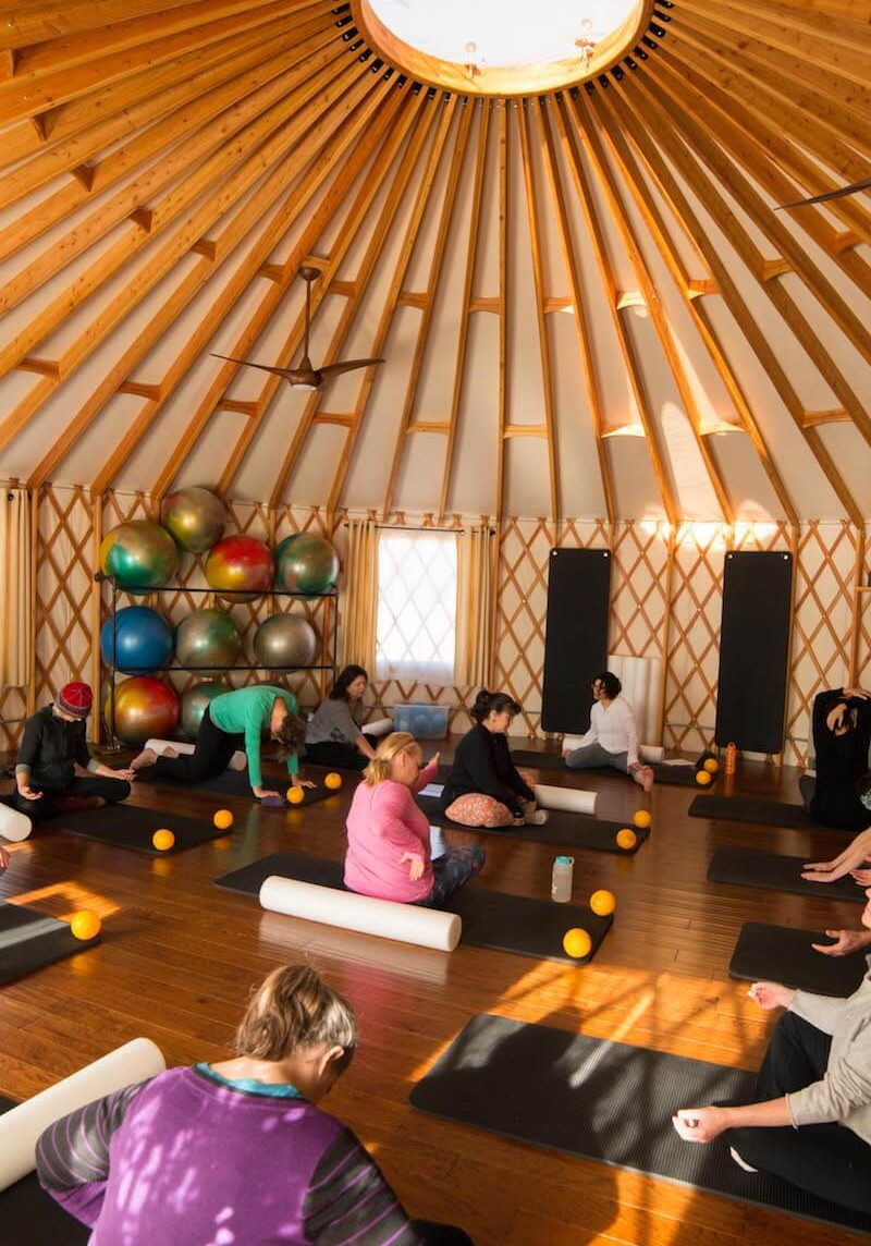 StillPoint MFR Group Therapy Myofascial Release Class in yurt