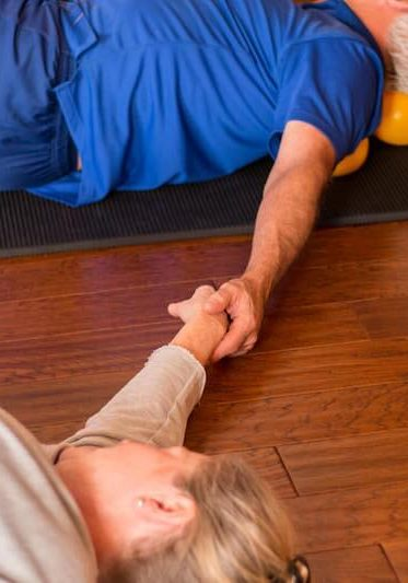 Group Therapy Portland Maine holding hands stretch