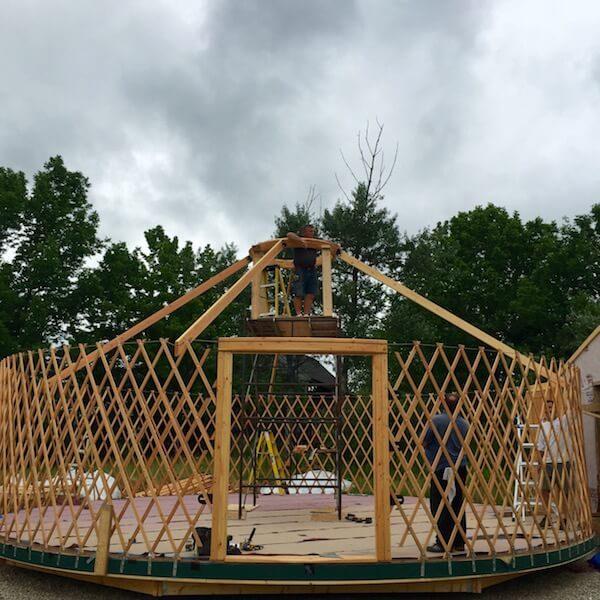 StillPoint MFR yurt construction